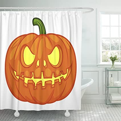 amazon com emvency shower curtain orange autumn halloween pumpkin rh amazon com