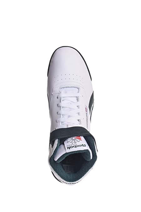 Amazon.com | Reebok EX-O-Fit Clean HI S White/Dark Forest Hi Tops Mens Athletic Shoes Size 13 New | Fashion Sneakers