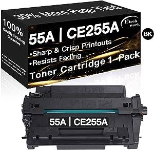 Compatible 55A Printer Toner Cartridge CE255A Used for HP Laserjet Enterprise P3015d P3015n P3015dn P3011 P3016 MFP M525dn M521dn M521dw (1-Pack, Black), Sold by Etechwork