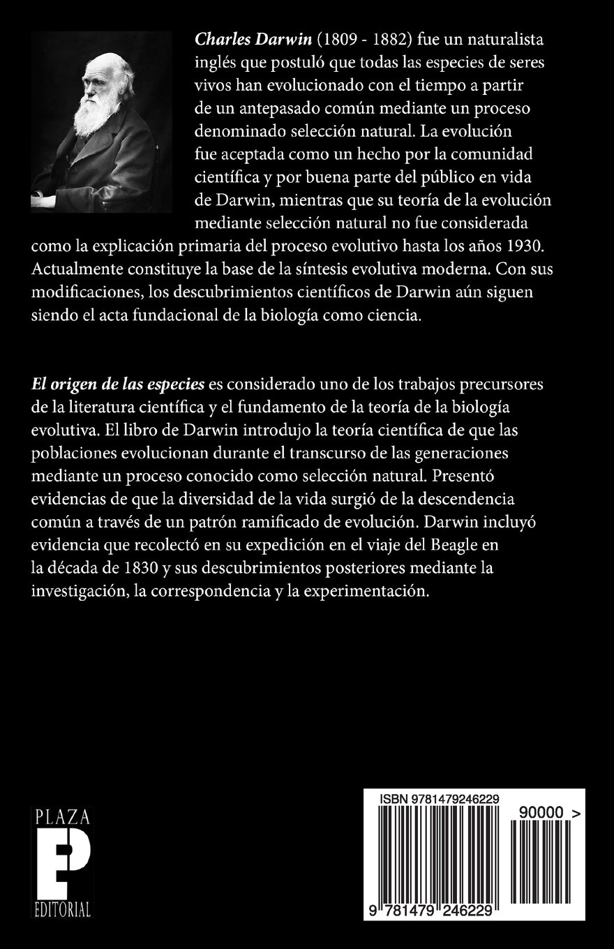 El origen de las especies (Tomo 1) (Spanish Edition): Charles Darwin: 9781479246229: Amazon.com: Books