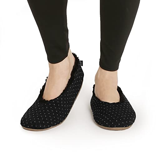 amazon com pembrook knit pattern slippers ballet style with non