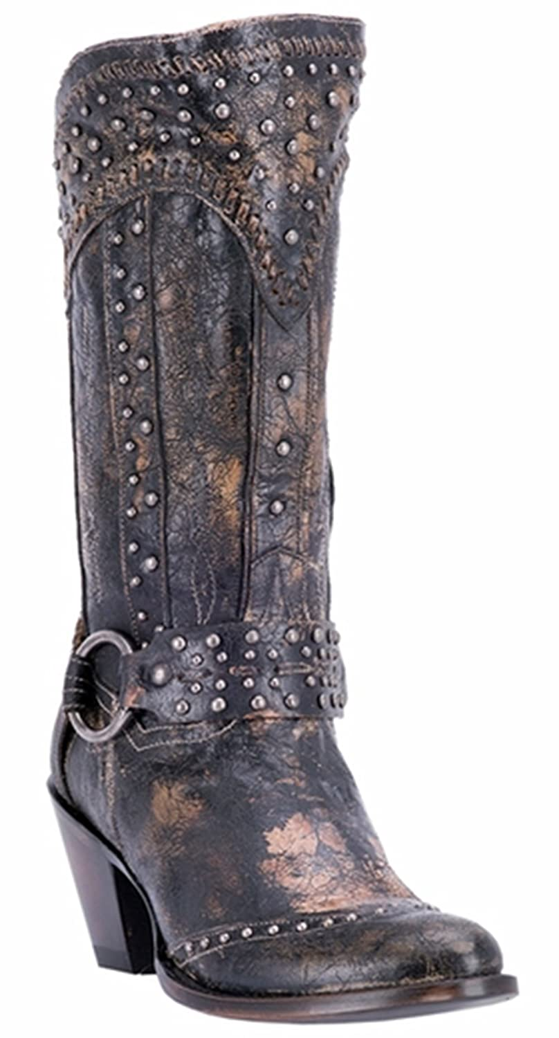 Dan Post Womens Sexy Back Studded Boot B06WVBBZBS 9 B(M) US|Black
