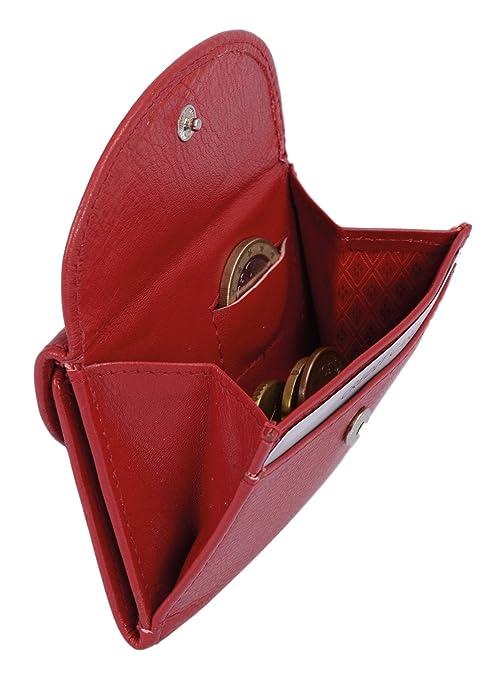 Cartera pequeña para señores Monedero para señoras LEAS, Piel auténtica, rojo -