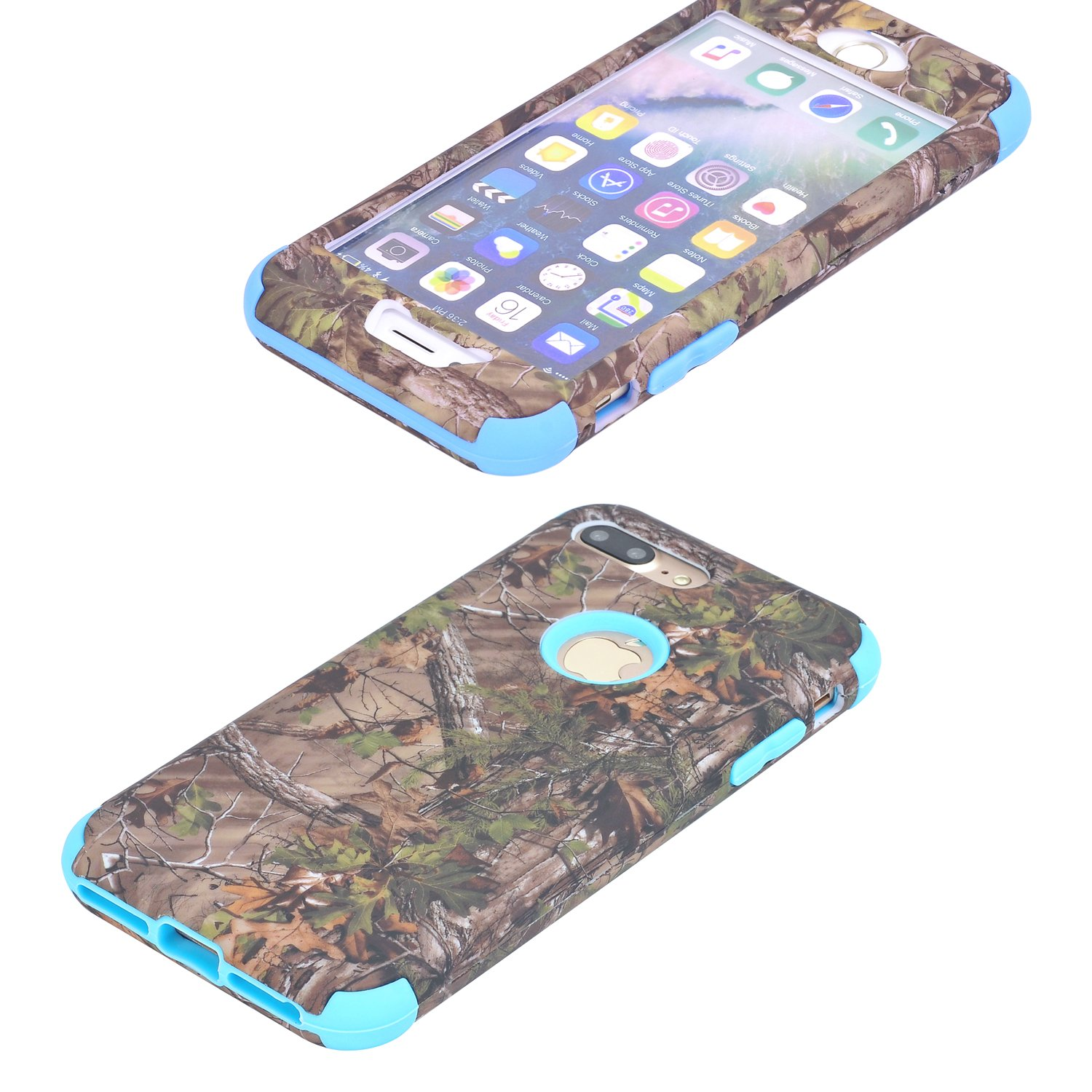 Amazon.com: iPhone 8 Plus Case/iPhone 7 Plus Cover, Harsel Camouflage Design 2 Layer Hybrid Armor Soft Silicone Hard Plastic Shockproof Bumper High Impact ...