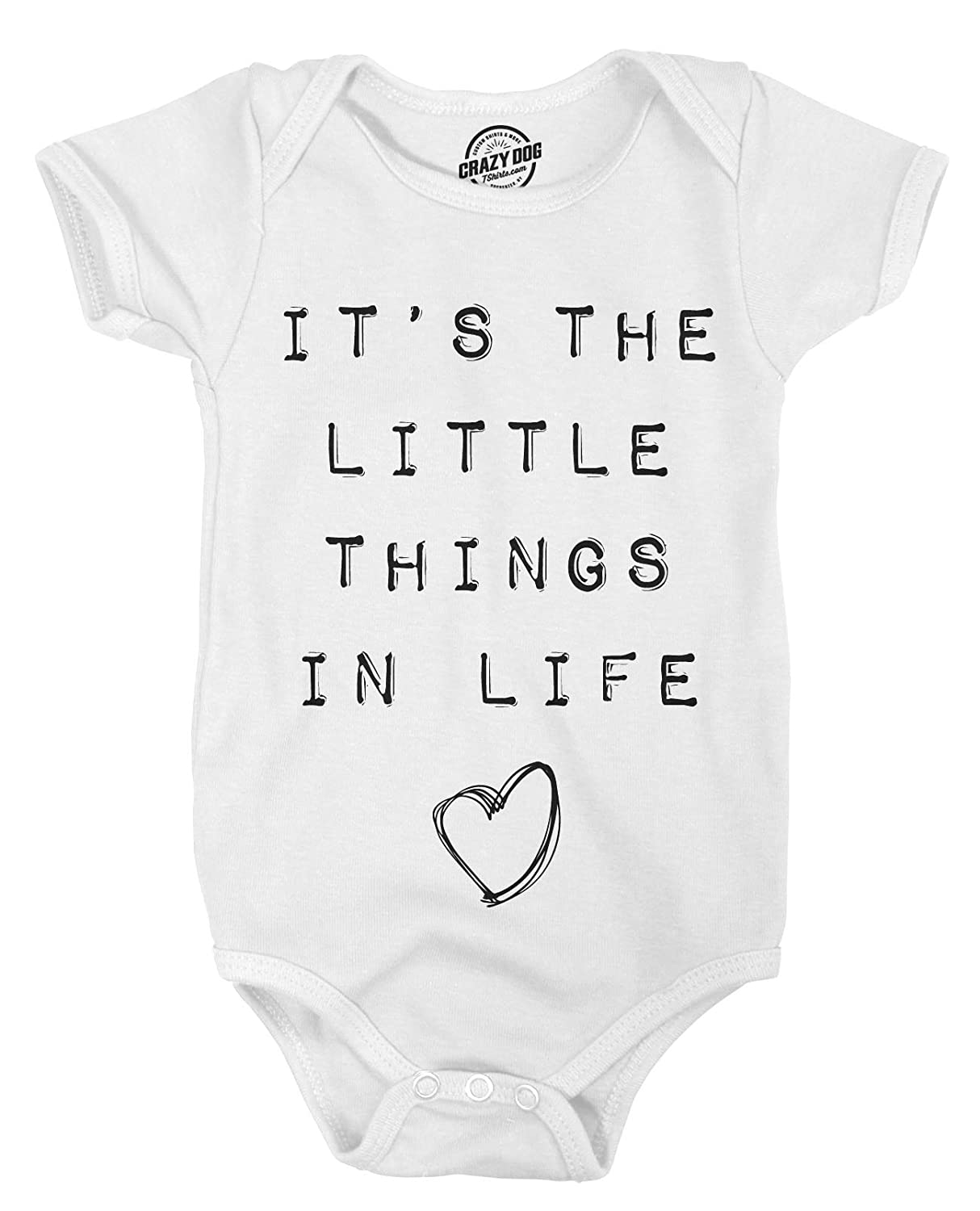 Romper Its The Little Things Funny Baby Clothes Undershirts with Sayings