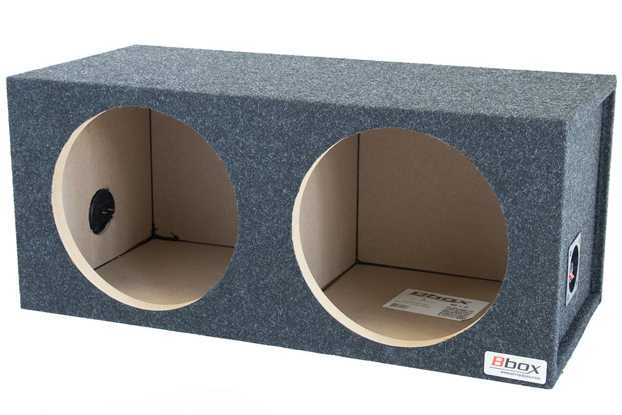 BBox E12D 12-Inch Dual Sealed Carpeted Subwoofer Enclosure