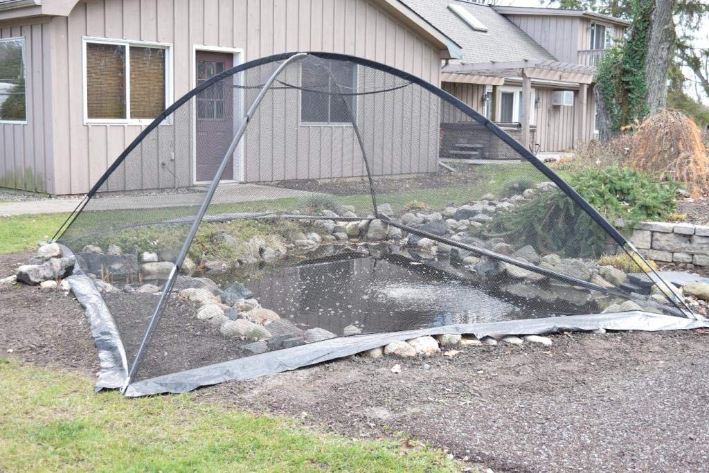 EasyPro+ PCT1317 Deluxe Pond & Garden Cover Tent Dome Netting 13x17 Feet, 3/8 Inch Mesh -Protection from Debris and Pests, Includes Sturdy Poles & Zipper, UV Resistant by EasyPro+
