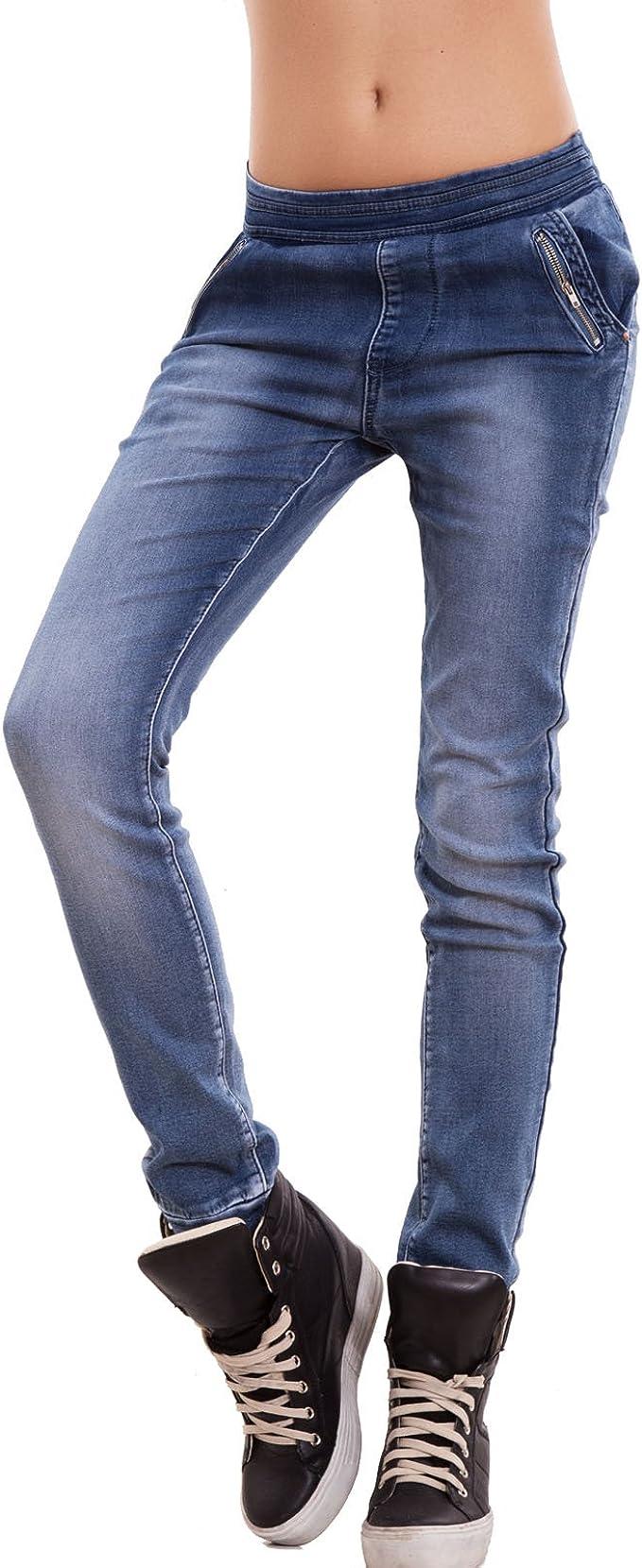 risposta antartico eterno  Toocool - Jeans Donna Pantaloni Vita Bassa Cavallo Basso Polsini Elastico  Zip Nuovi K101 [XL,Blu]: Amazon.it: Abbigliamento
