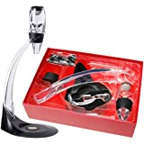 Oxford Street Deluxe Magio Decanter Red Wine Aerator & Stand Oxygenator Flavour Bouquet Enhancer
