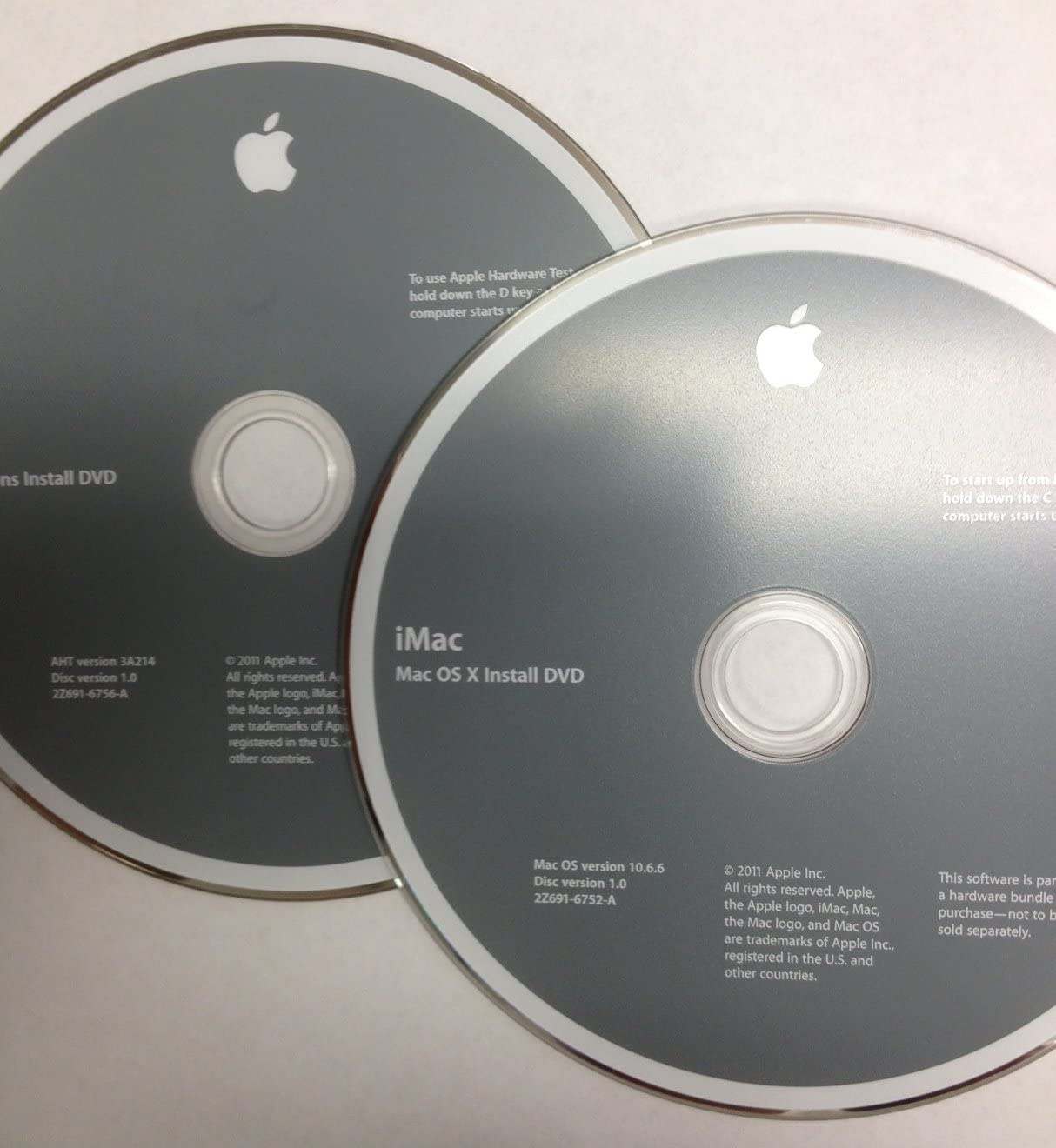 Apple iMac OS X Install DVDs 10.6.6 Mid 2011 Recovery Discs