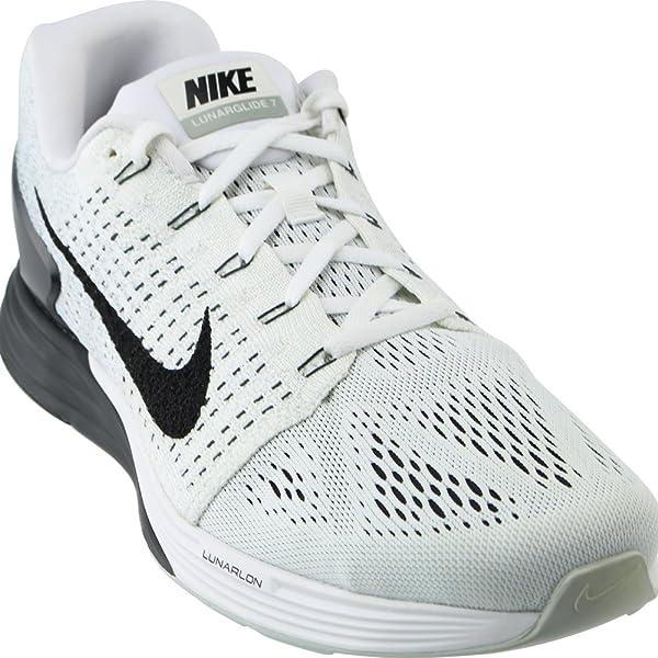 super popular 465b4 bf579 Nike Herren Lunarglide 7 Laufschuhe, Grau (Weiß Schwarz-Anthrazit-Cl Grey