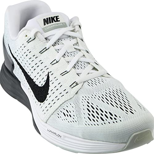online retailer b9206 55843 Nike Men s Lunarglide 7 Running Shoes, Blanco Black Gris (White Black