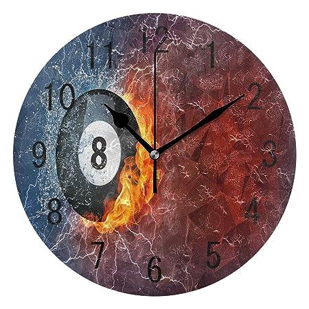 Use7 Home Decor - Reloj de Pared de acrílico Redondo con diseño de ...
