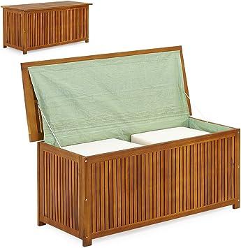 LD Arcón de madera, baúl de madera, baúl para cojines, jardín, baúl para cojines: Amazon.es: Bricolaje y herramientas