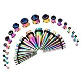 Amazon Price History for:36PCS Ear Gauge Stretching Kit Stainless Steel Tapers and Plugs Set Eyelet 14G-00G