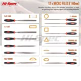 Hi-Spec 16 piece Carbon-Steel File Set with 200mm