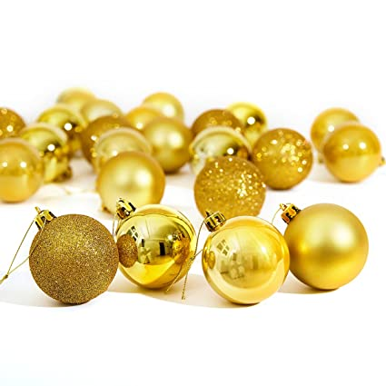 Amazon Com Christmas Ornaments Balls Ruivan Christmas Balls Bulk