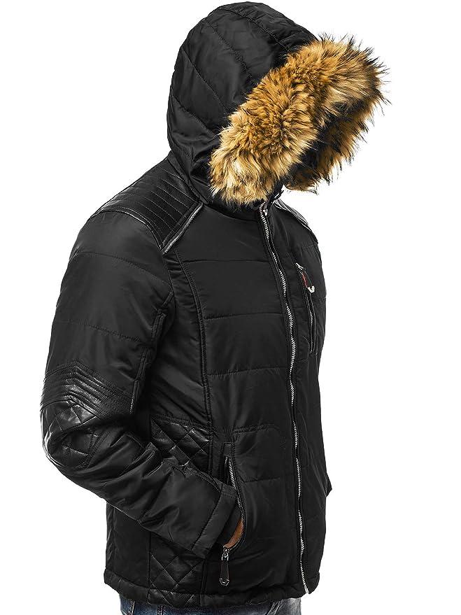 OZONEE Herren Winterjacke Parka Jacke Kapuzenjacke Wärmejacke Wintermantel Coat Wärmemantel Warm Modern Täglichen JB1081