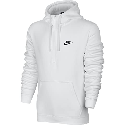 : Nike Mens Sportswear Half Zip Club Fleece Hooded