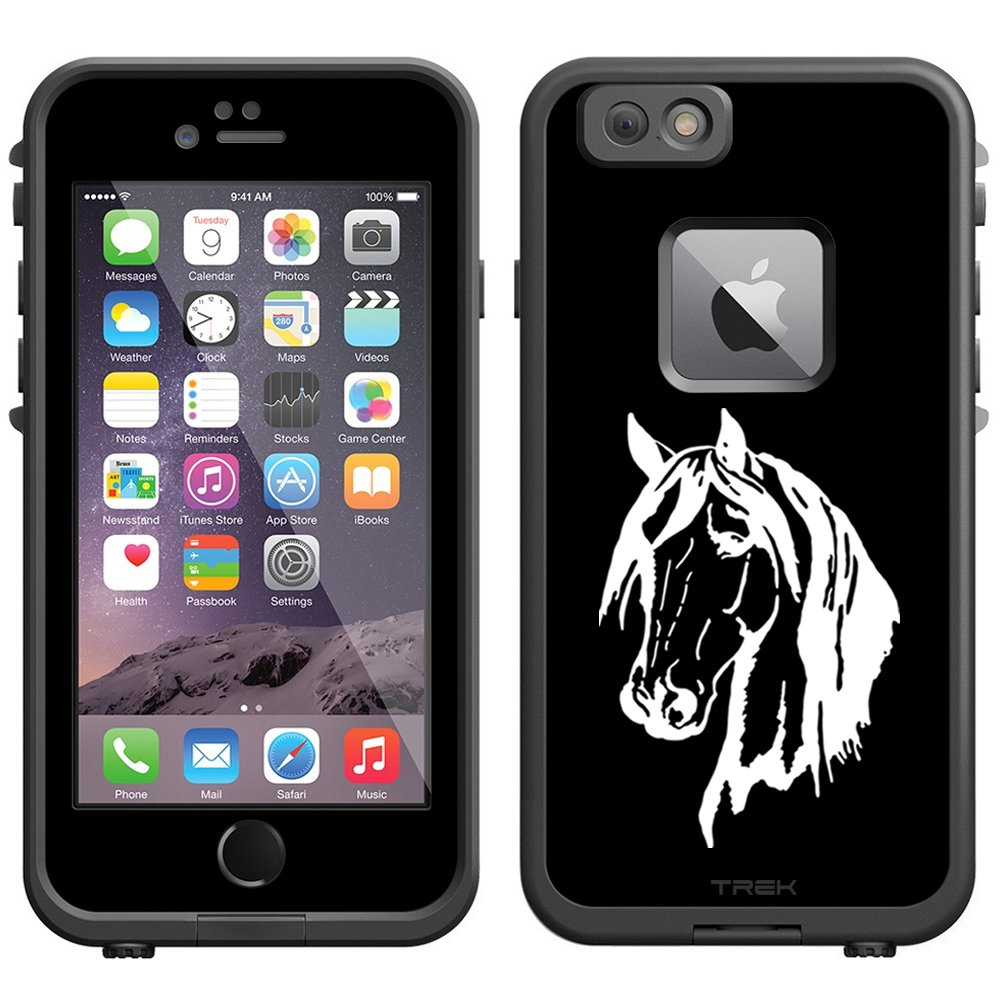 Amazon com skin decal for lifeproof apple iphone 6 case silhouette horse head on black cell phones accessories