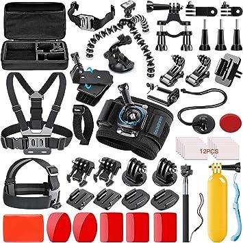 3 2 1 8 en 1 Kit De Accesorios Casco De Montaje para GoPro Hero 5 Black /& sesión 4 3