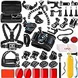 SmilePowo 42-in-1 Action Camera Accessorries Kit Mount for GoPro Hero 8 Max 7 6 5 4 3 3+ 2 1 Black GoPro 2018 Session Fusion Silver Insta360 DJI AKASO APEMAN YI Campark SJCAM XIAOMI (Carrying Case)