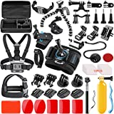 SmilePowo 42-in-1 Action Camera Accessorries Kit Mount for GoPro Hero 8 Max 7 6 5 4 3 3+ 2 1 Black GoPro 2018 Session Fusion Silver Insta360 DJI AKASO APEMAN YI Campark SJCAM XIAOMI (Carrying Case)