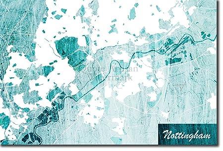 Tpck Nottingham England United Kingdom Uk Original Map Design