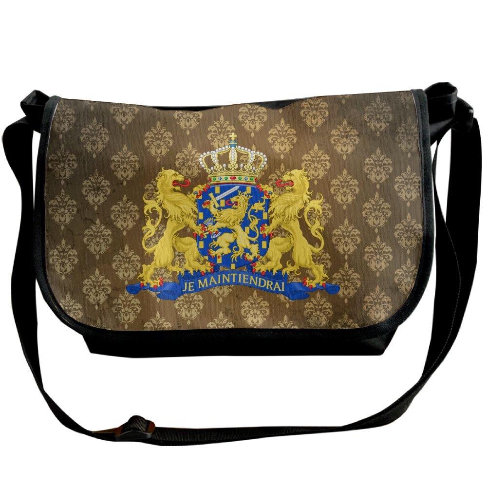 Lov6eoorheeb Unisex Coat Of Arms Of Netherlands Wide Diagonal Shoulder Bag Adjustable Shoulder Tote Bag Single Shoulder Backpack For Work,School,Daily