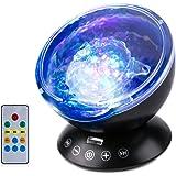 投影ランプ LEDライト プロジェクター 海洋プロジェクターライト インテリアライト テーブルランプ ホーム飾りライト USB投影ランプ リモコン付き 音楽鑑賞 回転可能 7色点灯モード切替 TFカード オーディオ機能付き