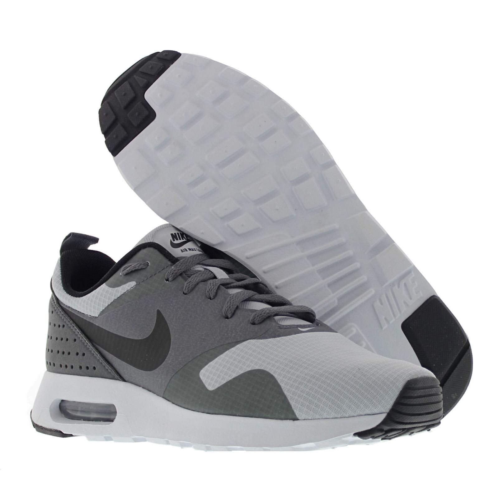 Nike Mens Air Max Tavas Grey Black Leather Trainers 42.5 EU