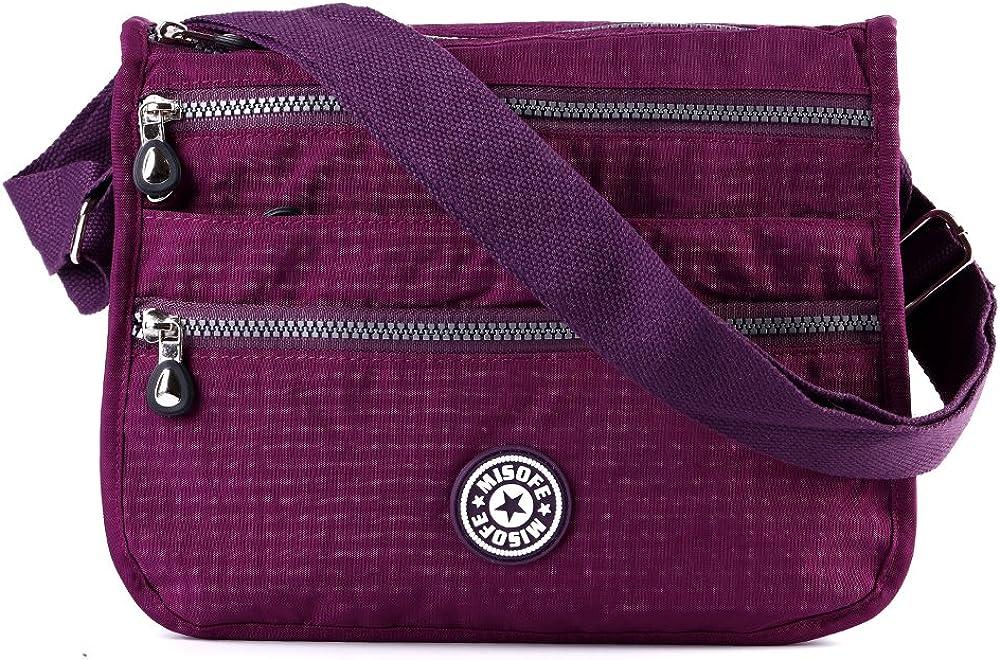de nailon bolso de mano de viaje con varios bolsillos Bolso de mensajero estilo bandolera estilo Casual para Mujer