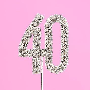 Deko Zahlen F Uuml R Kuchen Und Torten Aus Strass Zahl 40 4 5 Cm