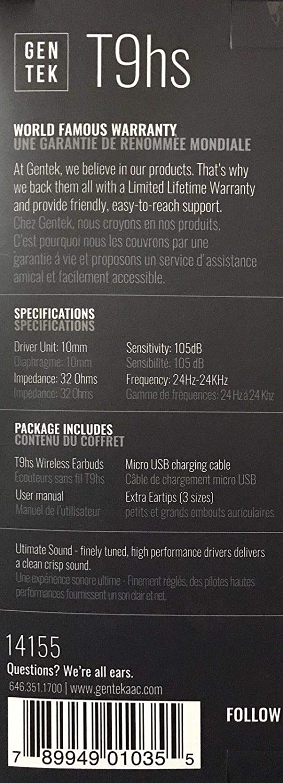 18cd80620e5 Amazon.com: GENTEK Wireless Earbuds (Black): Home Audio & Theater