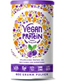 Vegan Protein | BLAUBEERE | Pflanzliches Proteinpulver aus Reis, Hanfsamen, Lupinen, Erbsen, Chia-Samen, Leinsamen, Amaranth, Sonnenblumen- und Kürbiskernen | 600 Gramm Pulver