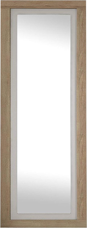 duehome HomeSouth - Espejo de Pared, Mural con Luna Modelo Lara, Acabado en Color Cambria y Blanco, Medidas: 180 cm (Alto) x 60 cm (Ancho) x 3,5 cm (Fondo)