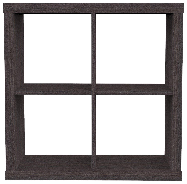 Furniture 247 - Scaffale a 2 ripiani (con 4 mensole a cubo), bianco SourcebyNet 20275814 White