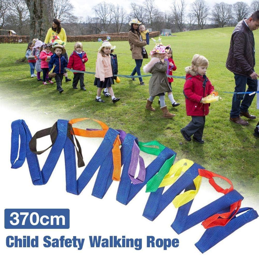Cuerda para caminar cuerda para caminar duradera de nylon antip/érdida para ni/ños en edad preescolar Ni/ños peque/ños Ni/ños cuerdas para caminar de seguridad para ni/ños Bucles con asas de colores