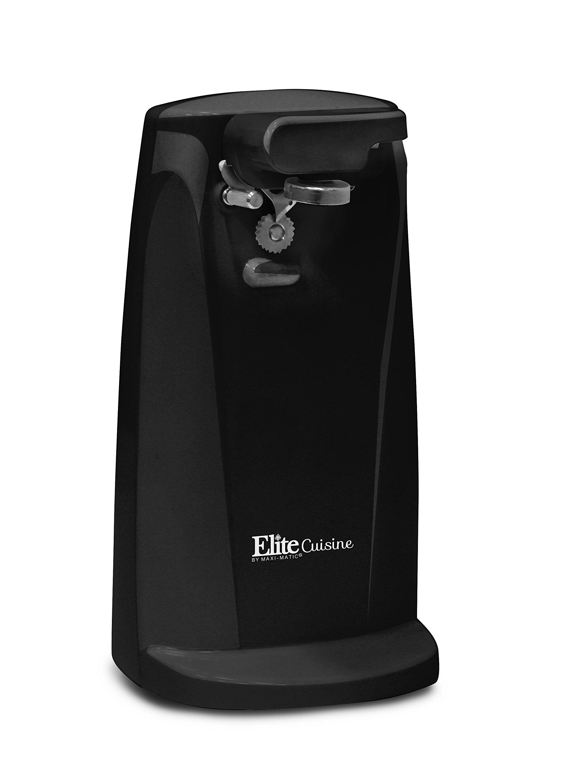 Elite Cuisine ERH-6101 Deluxe Extra Tall Can Opener, Black