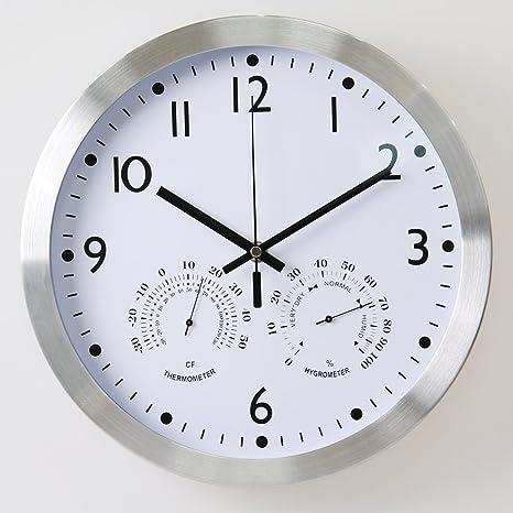 Reloj de pared, silenciosa para no hacer tictac del reloj de pared de la batería del ...