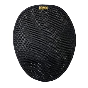 Motorcycle Circulator Pad for long ride cool air ventilation and comfort with non-skid bottom and elastic strap attachment   SKWOOSH