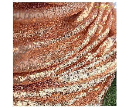 ebc58a60af Amazon.com: ShinyBeauty Sequin Fabric Raindrop Sequin Mesh Fabric by ...