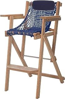 product image for Nags Head Hammocks Cumaru Folding Rope Barstool, Navy Blue DuraCord