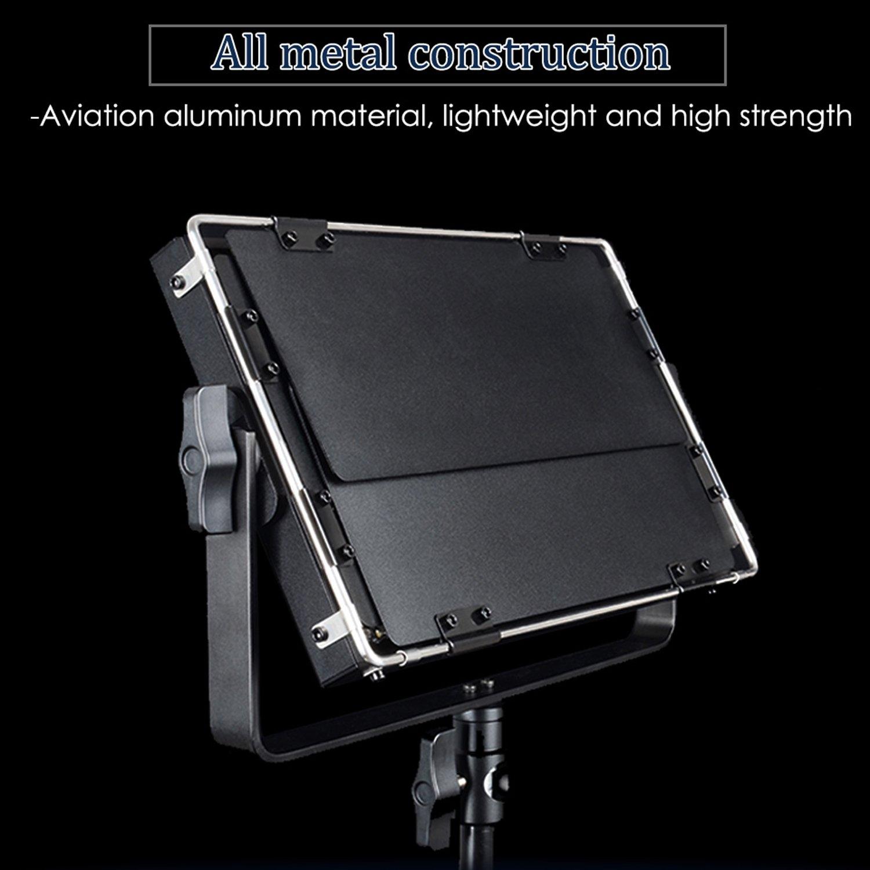 Photo Studio Video Luce continua LED per fotografia 3300-5600K 40W Viltrox VL-40T Pro Dimmable Ultra High Potenza Fotocamera//Videocamera LED Video Light