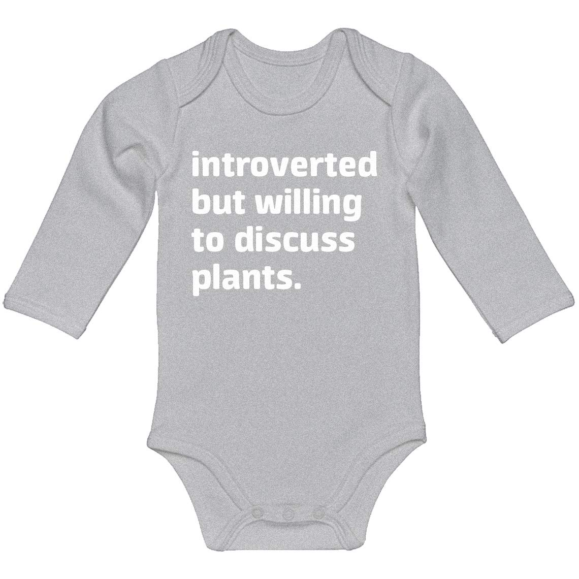 Indica Plateau Baby Romper Introverted But Willing to Discuss Plants 100/% Cotton Long Sleeve Infant Bodysuit