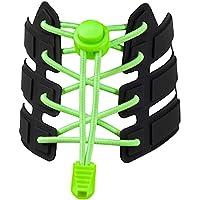 Agujetas elasticas (1 PAR) ajustables para adultos, niños y niñas, y adultos mayores. Cintas elasticas ideales para…
