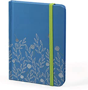 Password Book with tabs. Boxclever Press hardback Password Organizer with alphabetized tabs. Small Pocket Size Password Keeper for Internet login, Website Address, username. (Blue Floral)