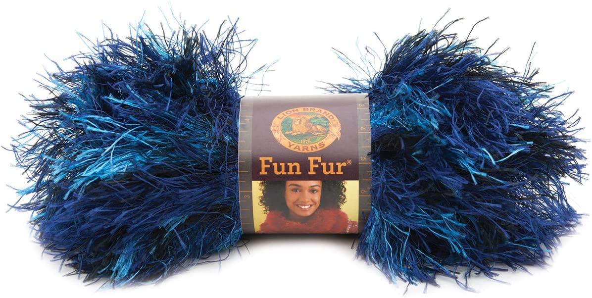 Lion Brand Fun Fur Eyelash Yarn Terracotta 3 Skeins Brand New