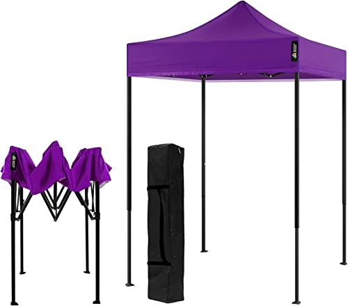 AMERICAN PHOENIX Canopy Tent 5×5 Pop Up Portable Tent Commercial Outdoor Instant Sun Shade 5 x5 Black Frame