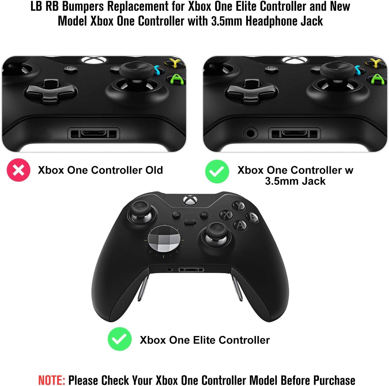 2 Unidades de Repuesto de Parachoques mejorados LB RB Triggers Reparación Botones Partes – Ultra Durable Mano de Obra con T6 T8 Destornillador Kit para Xbox One Elite Controller: Amazon.es: Electrónica